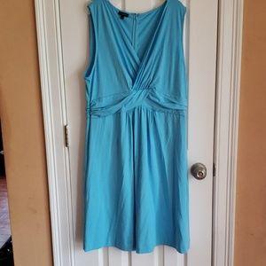 Talbots gorgeous powder blue crossover dress